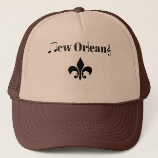New Orleans Clarinet Jazz Music Themed Trucker Hat