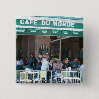 New Orleans Coffee and Beignets 15 Cm Square Badge