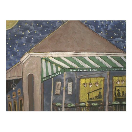 New Orleans Coffee Stand Postcard