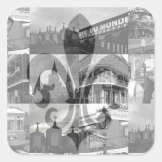 New Orleans Collage [Square Stickers] Square Sticker