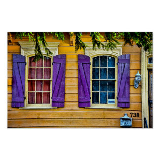New Orleans Colors - Shutters Print