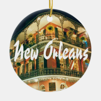 New Orleans Commemorative Keepsake Round Ceramic Decoration