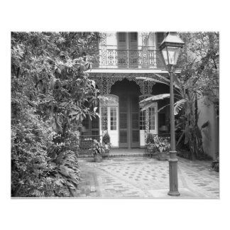 New Orleans Courtyard Poster