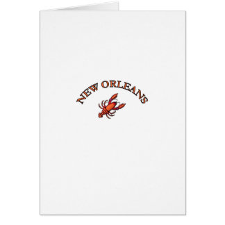 New Orleans Crawfish Greeting Card