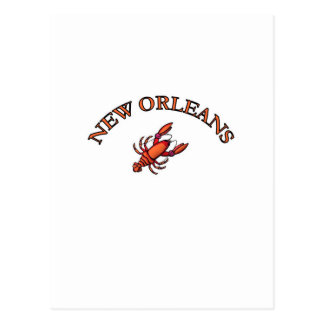 New Orleans Crawfish Postcard