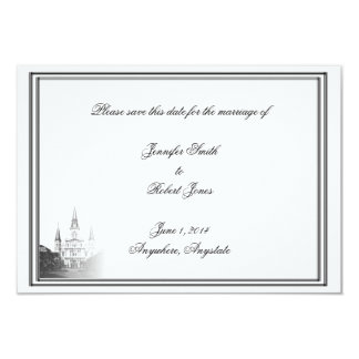 New Orleans Destination Wedding Save the Date Custom Announcements