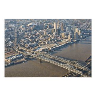 new Orleans Downtown Aerial Photo Print