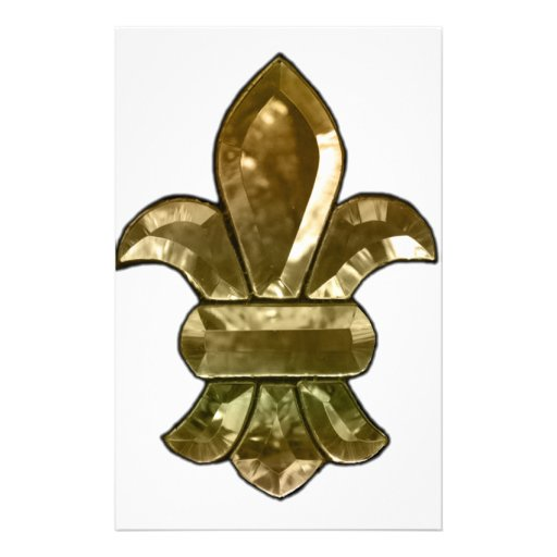 New Orleans Fleur De Lis Add Text And Color Custom Stationery