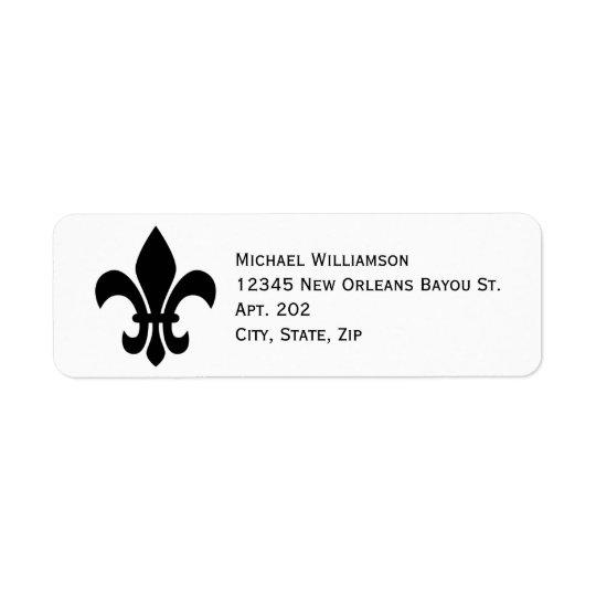 New Orleans Fleur de Lis Symbol Black Personalised