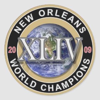 New Orleans Football World Champions 2009 Stickers