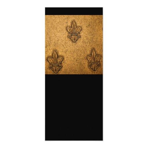 New Orleans French Fleur de Lis 10 Cm X 24 Cm Invitation Card