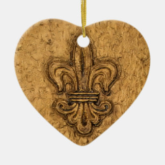 New Orleans French Fleur de Lis Christmas Ornament
