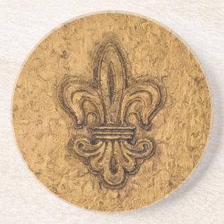 New Orleans French Fleur de Lis Drink Coaster