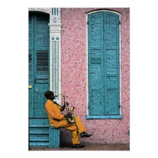 New Orleans French Quarter Blues Poster Print