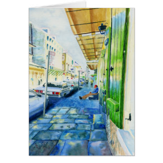 New Orleans French Quarter Greeting Card
