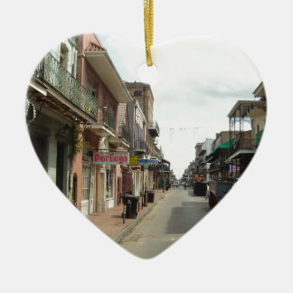 New Orleans French Quarter Ceramic Heart Decoration