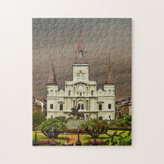 New Orleans French Quarter Church Jigsaw Puzzle
