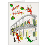New Orleans French Quarter Happy Holidays Greeting Card