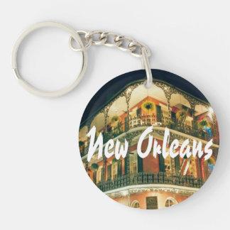 New Orleans French Quarter Key Ring
