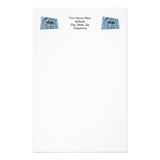 New Orleans Greys Flag Stationery Paper