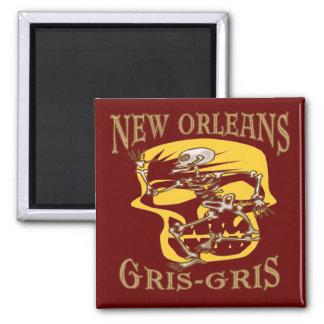 New Orleans Gris Gris Voodoo Square Magnet