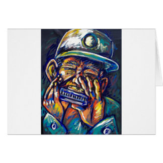 new orleans harmonica blues greeting card