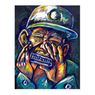 new orleans harmonica blues postcard