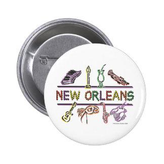 New-Orleans-ICONS- copy 6 Cm Round Badge