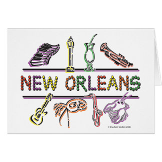 New-Orleans-ICONS- copy Greeting Card