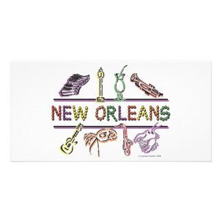 New-Orleans-ICONS- copy Photo Greeting Card