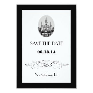 New Orleans Jackson Square Save the Date Cards Invite