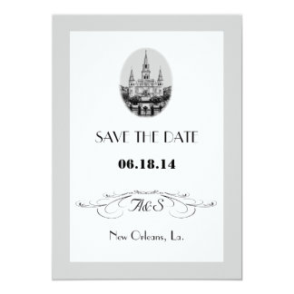 New Orleans Jackson Square Save the Date Cards Announcement
