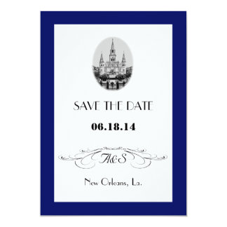 New Orleans Jackson Square Save the Date Cards Custom Invites