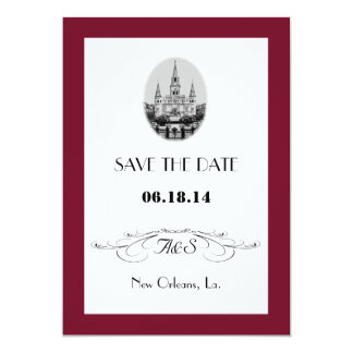 New Orleans Jackson Square Save the Date Cards Personalized Invite