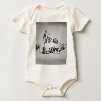 New Orleans Jazz Baby Bodysuit
