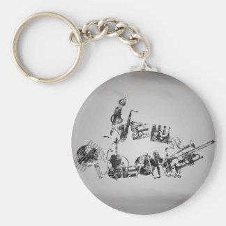 New Orleans Jazz Key Ring
