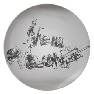New Orleans Jazz Plate