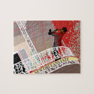 NEW ORLEANS JAZZ SAX by Slipperywindow Jigsaw Puzzle