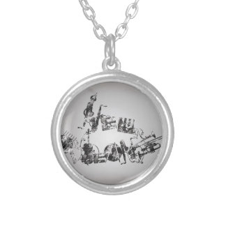 New Orleans Jazz Silver Plated Necklace