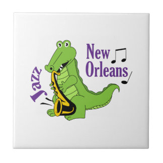 NEW ORLEANS JAZZ SMALL SQUARE TILE