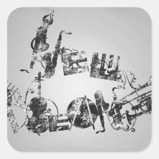 New Orleans Jazz Square Sticker