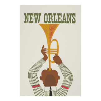 New Orleans,Jazz,Travel Poster