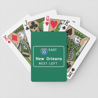 New Orleans, LA Road Sign Bicycle Playing Cards