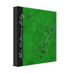 New Orleans Lady - Violin Wrapped Canvas - Green Gallery Wrap Canvas