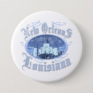New Orleans Louisiana 7.5 Cm Round Badge