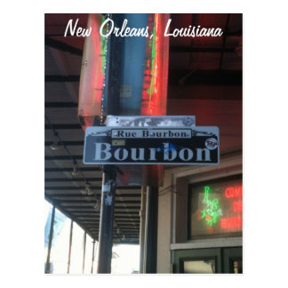 New Orleans Louisiana Bourbon Street Postcard