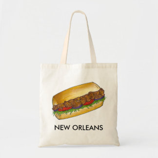 New Orleans Louisiana Fried Oyster Po'Boy Tote