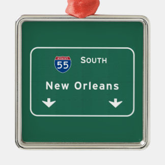 New Orleans Louisiana Interstate Highway Freeway : Christmas Ornament