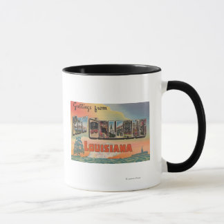 New Orleans, Louisiana - Large Letter Scenes Mug