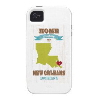 New Orleans, Louisiana Map – Home Is Where iPhone 4/4S Cover